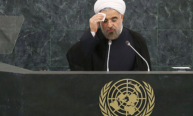 Hassan Rouhani addresses the UN general assembly in New York